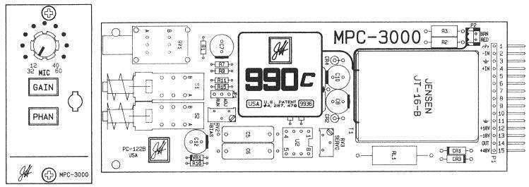 The John Hardy Company MPC-3000 Mic Preamp Card